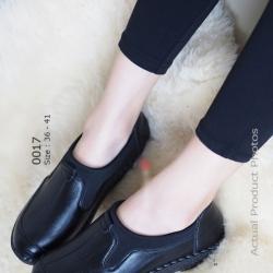 รองเท้าคัทชูเพื่อสุภาพ สไตล์สปอร์เกิร์ล (สีดำ )