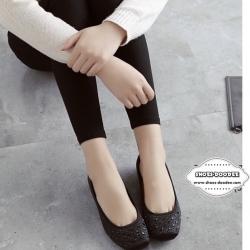 รองเท้าคัชชูสีกากี ทำจากผ้าซาติน สูง1.5ซม. ทำให้ใส่แล้วดูขับผิวเท้า ใส่ได้ทุกโอกาส