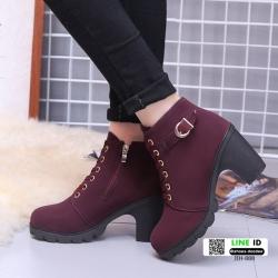 รองเท้าบูทส้นสูงนำเข้า JIH-888-RED [สีแดง]