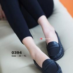 รองเท้าคัทชูผู้หญิง ทรงMoccasins (สีดำ )