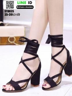 รองเท้าหุ้มท้ายส้นแท่ง ST8835-BLK [สีดำ]