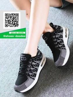 รองเท้าผ้าใบแฟชั่นสีดำ NEW SPORT SNEAKERS (สีดำ )