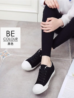 รองเท้าผ้าใบ Sneaker Converse Style (สีดำ )