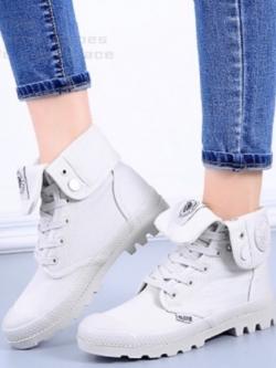 รองเท้าบูท หุ้มข้อ สไตล์PALLADIUM ใส่ได้หลายแบบ (สีเทา )