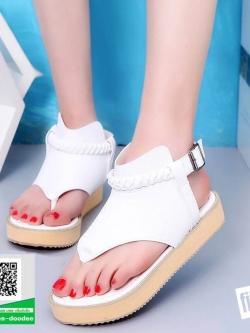 รองเท้าแตะรัดส้นสีขาว flip flops and female 2017 (สีขาว )