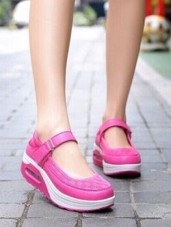 รองเท้าคัชชูสุขภาพ สไตล์สปอร์ต (สีชมพู )