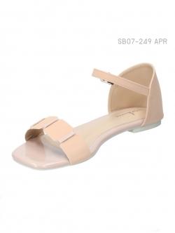 รองเท้าแฟชั่นส้นแบน แบบรัดส้น (สีแอปปริคอท )