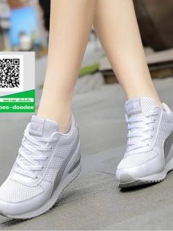 รองเท้าผ้าใบผู้หญิงสีขาว ลำลอง ทรงสปอร์ต (สีขาว )
