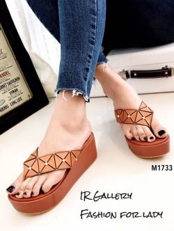 รองเท้าแตะผู้หญิงสีส้ม แบบคีบ BAOBAO Issey Miyake (สีส้ม )