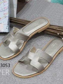 รองเท้าแตะ แบบสวม สไตล์H (สีเทา )