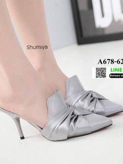 รองเท้าคัชชูส้นสูง สไตล์แบรนด์ ZARA A678-62-SILVER [สีเงิน]