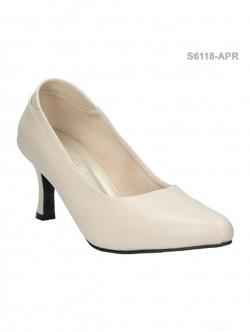รองเท้าคัทชูส้นสูง หัวแหลม ทรงสุภาพ (สีแอปปริคอท )