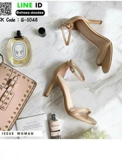 รองเท้าสวมส้นเข็ม ความสูง 4 นิ้ว G-1048-APR [สีแอปริคอท]
