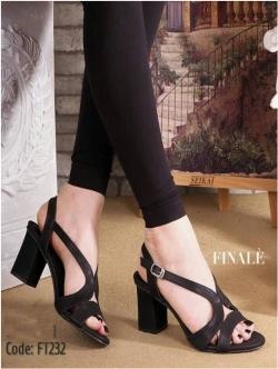 รองเท้าส้นตัน วัสดุพียูนิ่ม (สีดำ)