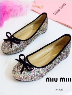 รองเท้าคัทชูสีรุ้ง STYLE MIU MIU