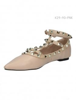 รองเท้าคัทชู สไตล์วาเลนติโน่ (สีชมพู)