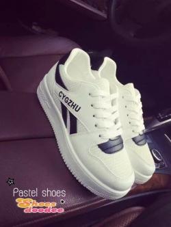 รองเท้าผ้าใบสีดำ เสริมส้น ลำลอง สินค้านำเข้า100% เสริมส้น2นิ้ว เสริมความมั่นใจ พื้นยางกันลื่นอย่างดี