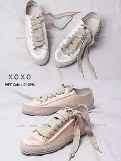 รองเท้าผ้าใบแฟชั่นสีขาว pedro garcia sneakers (สีขาว )