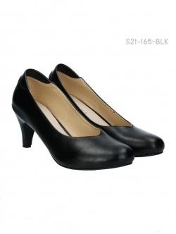 รองเท้าคัทชูส้นสูง ทรงสภาพ (สีดำ )