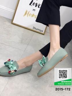 รองเท้าคัทชูส้นแบน Miu miu 2015-172-GRN [สีเขียว]