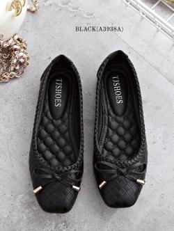 รองเท้าคัชชูส้นแบน (สีดำ)