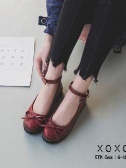รองเท้าคัทชูสีแดง ทรง Dr. Matens (สีแดง )