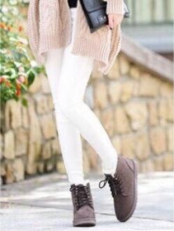 รองเท้าบูท เดินหิมะ ใส่หน้าหนาว (สีน้ำตาล )