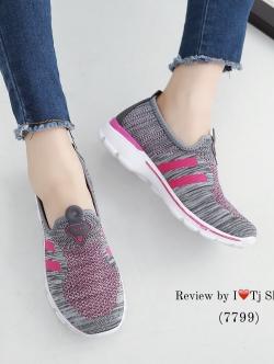 รองเท้าผ้าใบผู้หญิง เพื่อสุขภาพ น้ำหนักเบา STYLE SKECER (สีเทา )
