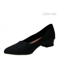 รองเท้าคัทชูส้นเตี้ย ทรงสุภาพ (สีดำ )