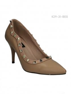รองเท้าคัทชูส้นสูง สไตล์วาเลนติโน่ (สีเบจ )
