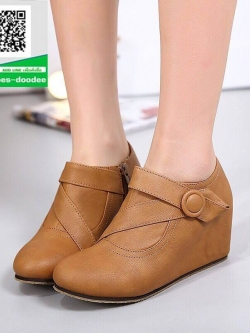 รองเท้าบูทสั้นสีน้ำตาล กันหนาว สไตล์เกาหลี (สีน้ำตาล )
