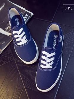 รองเท้าผ้าใบ สไตล์KedsStyle (สีน้ำเงิน )