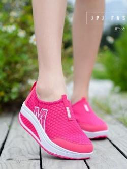 รองเท้าผ้าใบเสริมส้น Sport Girl (สีชมพู )