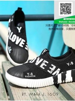 รองเท้าผ้าใบผู้หญิงสีดำ Y-8 งานำเข้า (สีดำ )