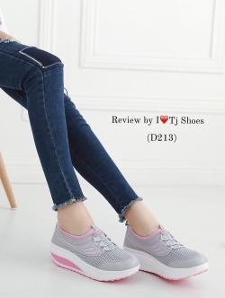 รองเท้าผ้าใบเพื่อสุขภาพ น้ำหนักเบา Supportเท้าได้ดีมาก STYLE SKECER (สีเทาอ่อน )