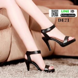 รองเท้าสไตล์ YSL ดาราเซเลปใส่กันเยอะมากค่ะ ED71-BLACK [สีดำ]