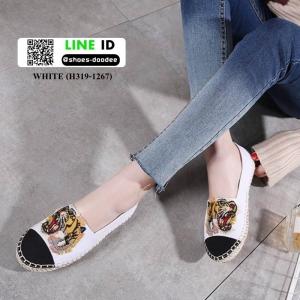 รองเท้าผ้าใบ สไตล์แบรนด์ KENZO H319-1267-WHITE [สีขาว]