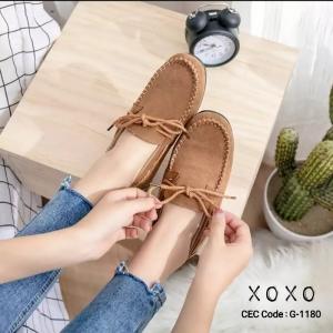 รองเท้าคัทชูส้นแบน TOD'S เชือกผูกโบ G-1180-BWN [สีน้ำตาล]