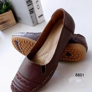รองเท้าคัทชูส้นแบน สไตล์Loafer (สีน้ำตาล )