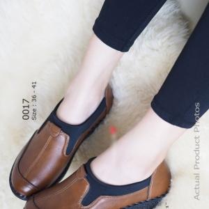 รองเท้าคัทชูเพื่อสุภาพ สไตล์สปอร์เกิร์ล (สีน้ำตาล )