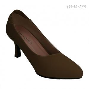 รองเท้าคัทชูส้นสูง ทรงสุภาพ (สีน้ำตาล )