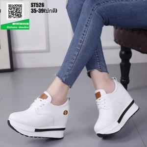 รองเท้าผ้าใบเสริมส้น ST526-WHI [สีWHI]