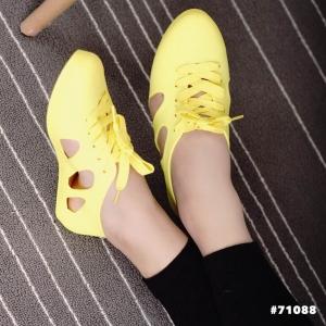 รองเท้าผ้าใบสีเหลือง งานALDOเนื้อซิลิโคนอย่างดี สีลูกกวาดพาสเทล งานชนช้อป กันแดด กันฝน ทนทานสุดๆ