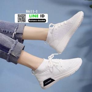 รองเท้าผ้าใบนำเข้า สไตล์ ADIDAS 8611-1-WHITE [สีขาว]