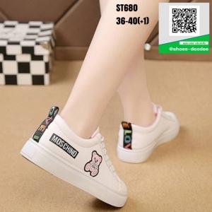 รองเท้าผ้าใบ นำเข้า100% ST680-PNK [สีชมพู]