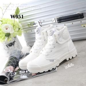 รองเท้าบูท หุ้มข้อ สไตล์PALLADIUM ใส่ได้หลายแบบ (สีขาว )