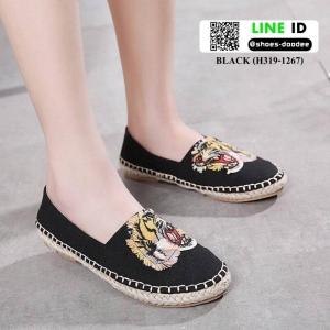 รองเท้าผ้าใบ สไตล์แบรนด์ KENZO H319-1267-BLACK [สีดำ]
