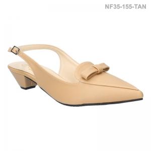 ลดล้างสต๊อก รองเท้าส้นเตี้ย NF35155-TAN [สีแทน]