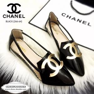 รองเท้าคัทชูสีดำ หัวแหลม STYLE-CHANEL ด้านหน้าประดับอะไหล่CCมาพร้อมพื้นตีแบรนด์CHANEL แฟชั่นเกาหลี แฟชั่นพร้อมส่ง