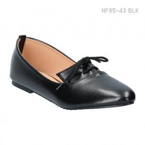 รองเท้าคัทชูส้นแบน สไตล์มอคคาซิ่น (สีดำ )